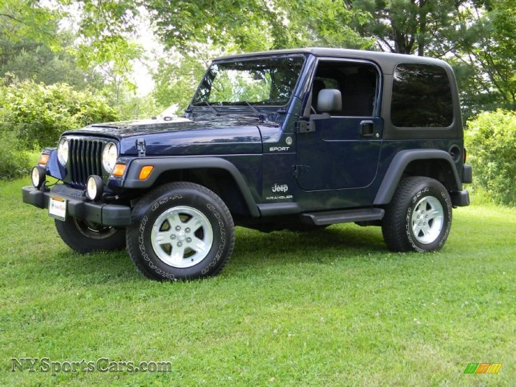 2006 jeep wrangler sport 4x4 in midnight blue pearl. Black Bedroom Furniture Sets. Home Design Ideas
