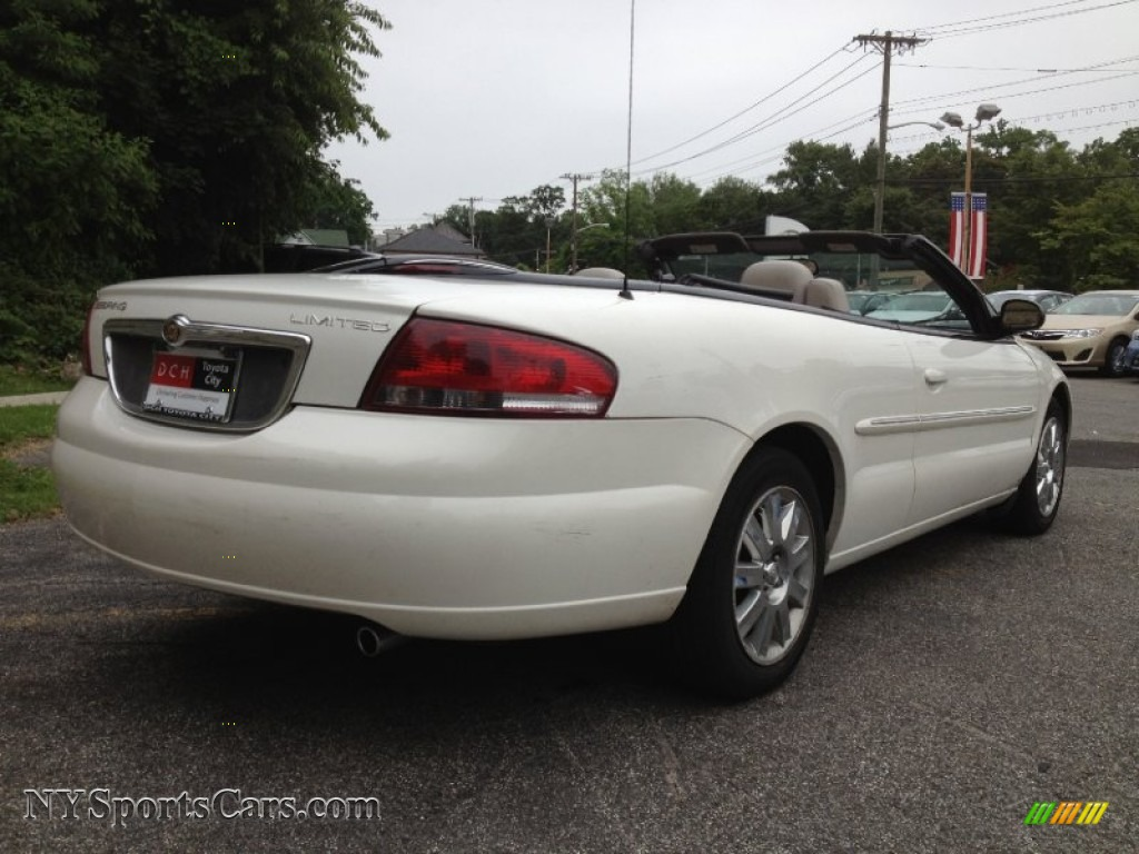 2004 chrysler sebring limited convertible in stone white. Black Bedroom Furniture Sets. Home Design Ideas