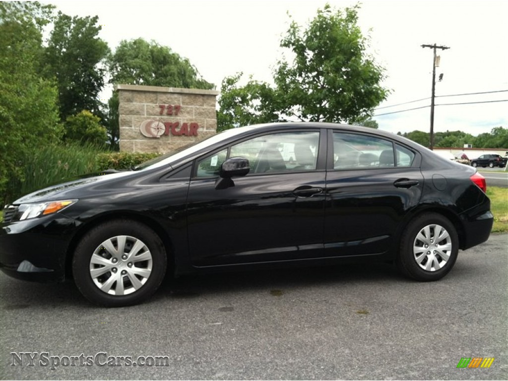 2012 Honda Civic Lx Sedan In Crystal Black Pearl 329332