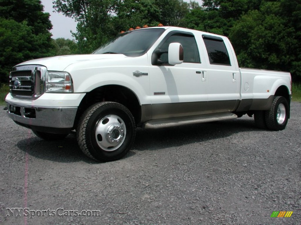 2006 ford f350 super duty king ranch crew cab 4x4 dually in oxford white a20931 nysportscars. Black Bedroom Furniture Sets. Home Design Ideas