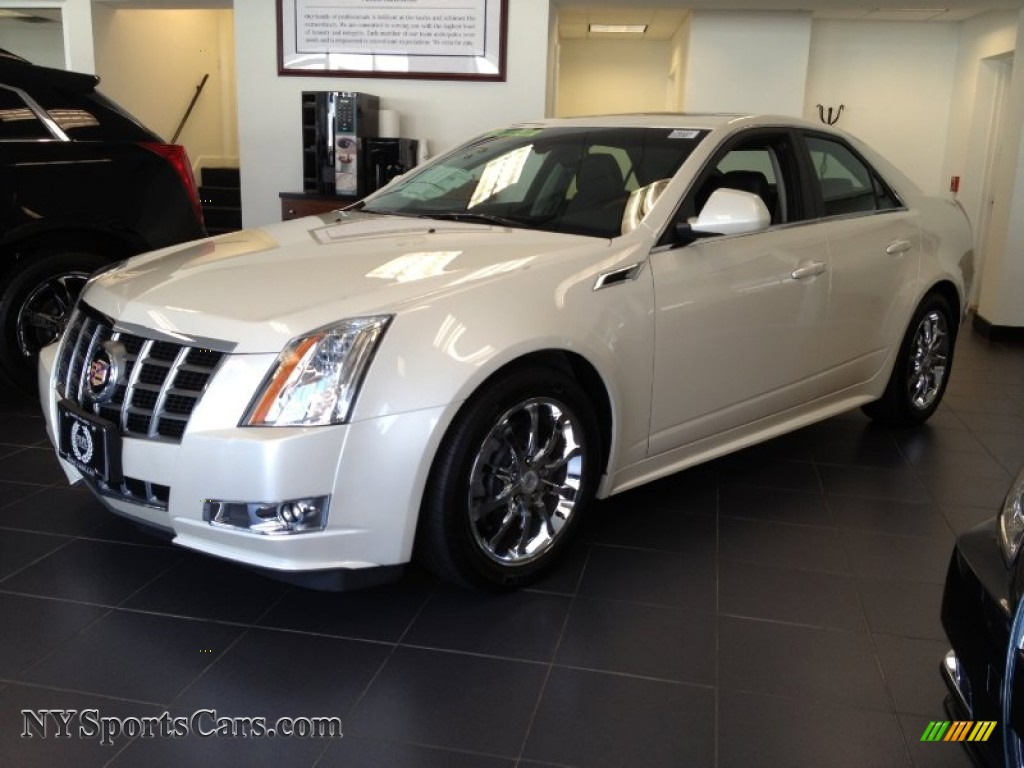 2012 cadillac cts 4 3 6 awd sedan in white diamond tricoat 122333 cars. Black Bedroom Furniture Sets. Home Design Ideas