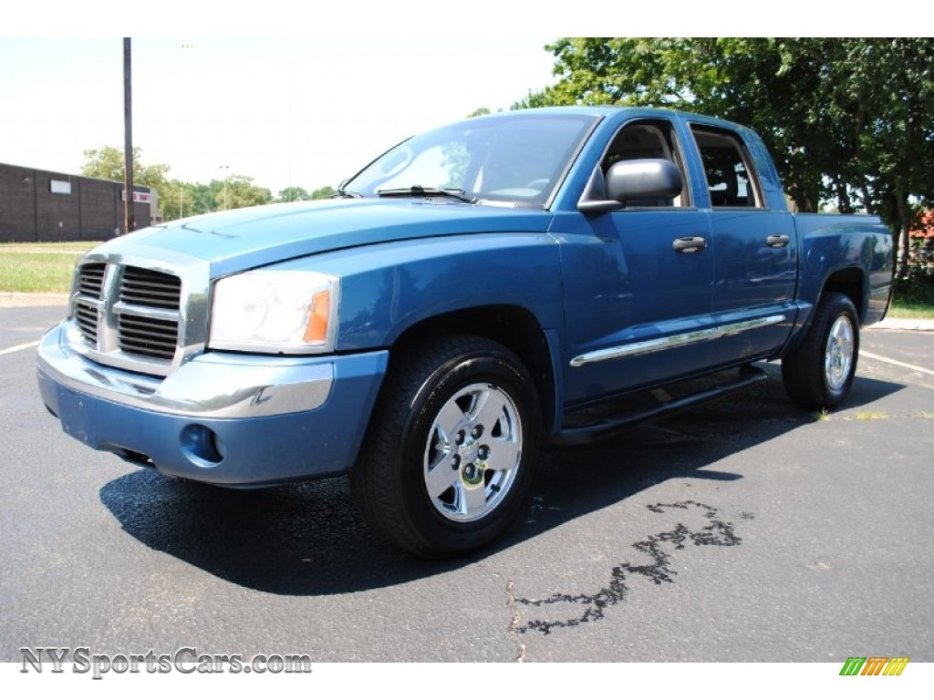 Atlantic blue pearl medium slate gray dodge dakota laramie quad cab 4x4