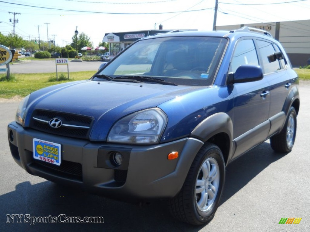 2007 hyundai tucson se 4wd in nautical blue metallic. Black Bedroom Furniture Sets. Home Design Ideas