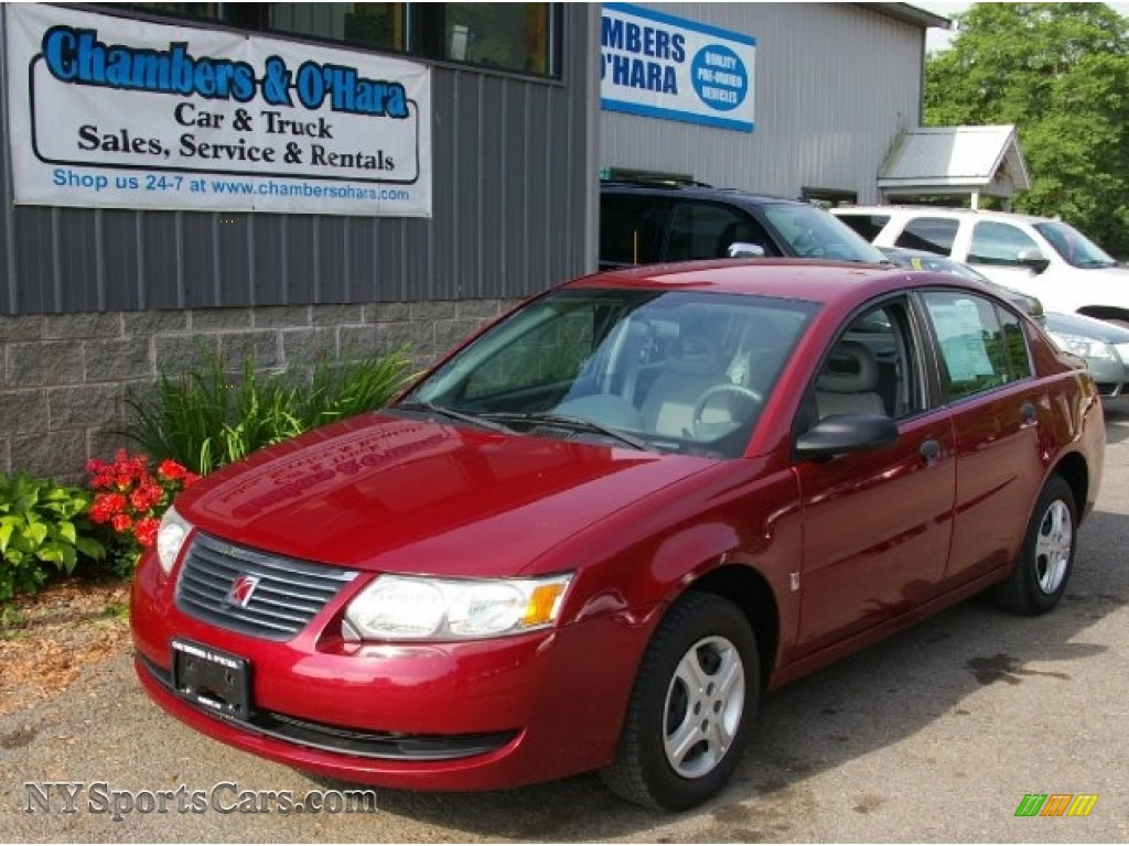 2005 Ion 1 Sedan Berry Red Gray Photo
