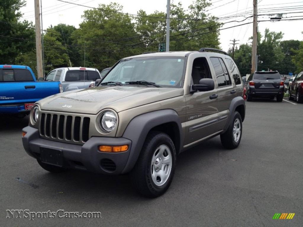 2003 jeep liberty sport 4x4 in light khaki metallic - 613346