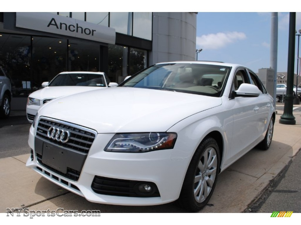 2009 audi a4 2.0t premium quattro sedan in ibis white - 019527