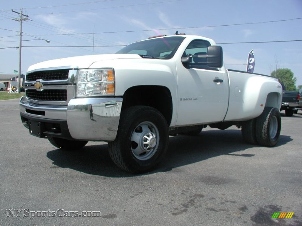 Summit white light titanium ebony chevrolet silverado 3500hd lt regular cab 4x4 dually