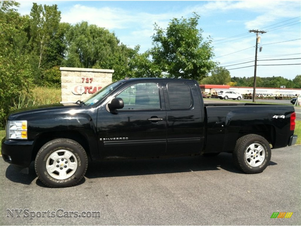 2009 chevrolet silverado 1500 lt extended cab 4x4 in black 222181 cars. Black Bedroom Furniture Sets. Home Design Ideas