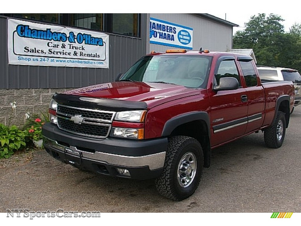2006 chevrolet silverado 2500hd lt extended cab 4x4 in sport red metallic 111602. Black Bedroom Furniture Sets. Home Design Ideas