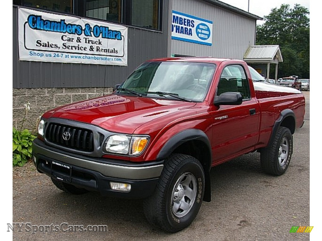 2004 Toyota Tacoma Regular Cab 4x4 In Impulse Red Pearl