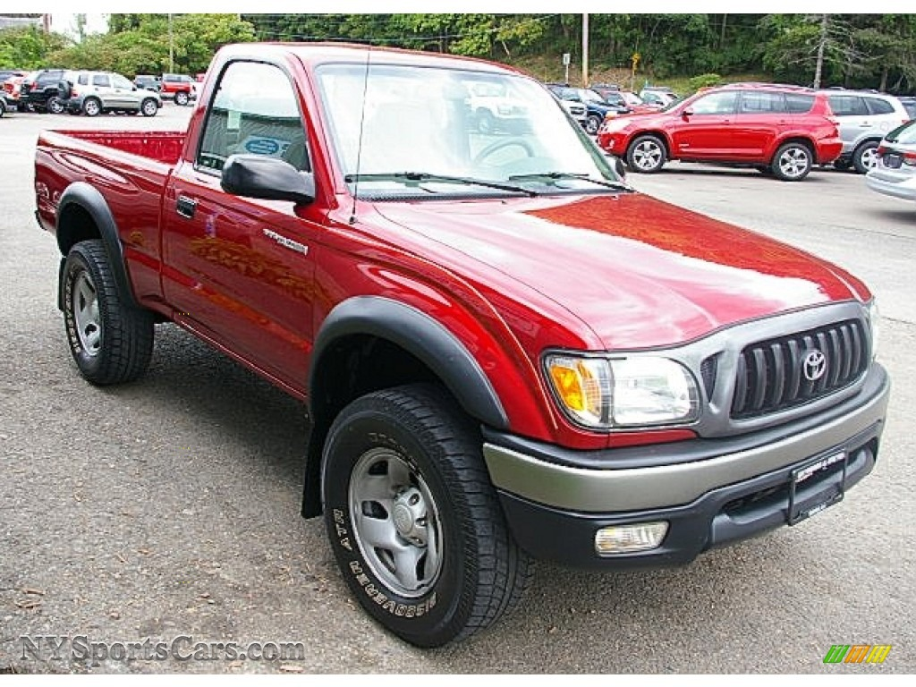 2004 toyota tacoma regular cab 4x4 in impulse red pearl photo 9 429989. Black Bedroom Furniture Sets. Home Design Ideas