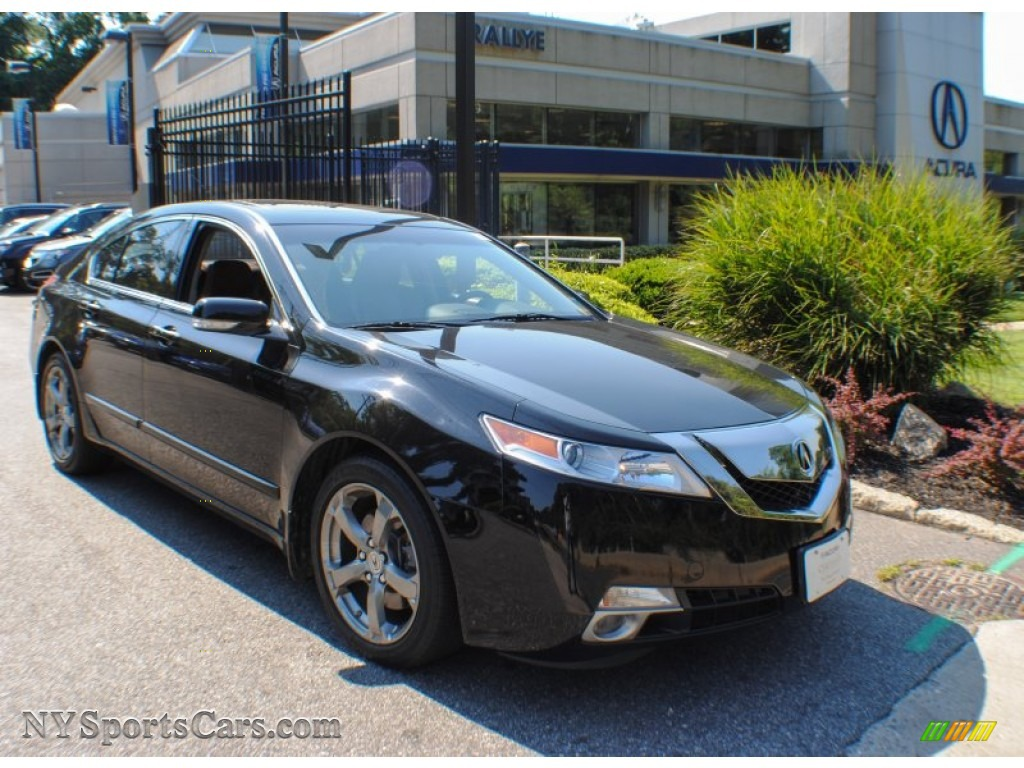 2010 acura tl 3 7 sh awd technology in crystal black pearl. Black Bedroom Furniture Sets. Home Design Ideas