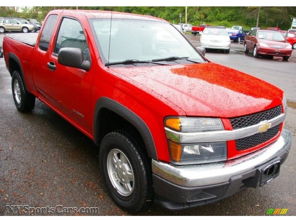2005 colorado z71 extended cab 4x4 victory red very dark pewter photo 10
