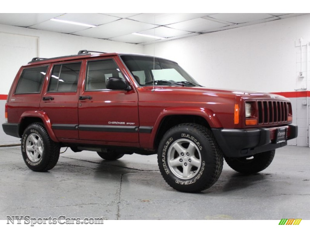 1999 jeep cherokee sport 4x4 in chili pepper red pearl photo 18 668466. Black Bedroom Furniture Sets. Home Design Ideas