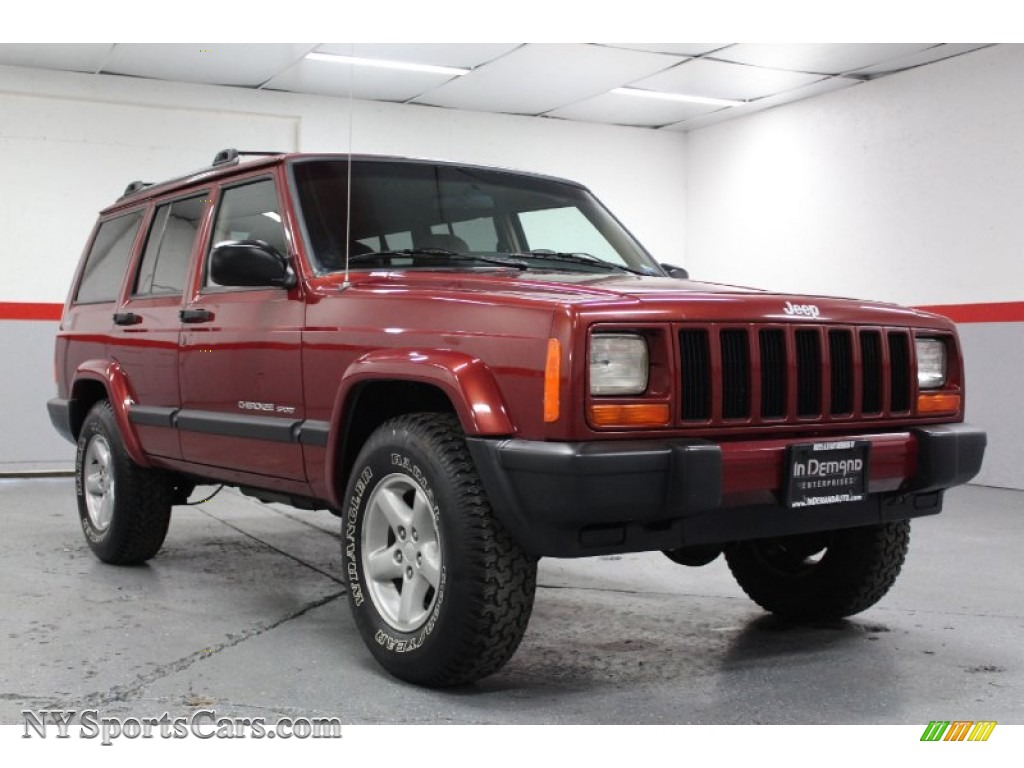 1999 Jeep Cherokee Sport 4x4 In Chili Pepper Red Pearl