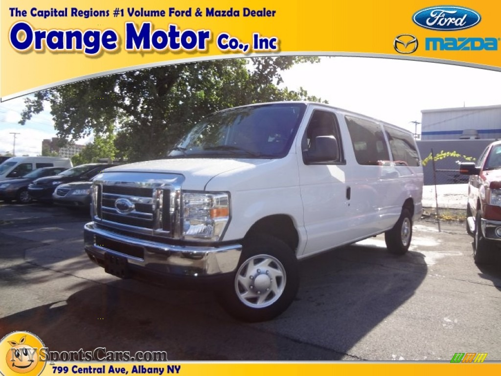 2011 ford e series van e350 xlt passenger in oxford white for Orange motors albany new york