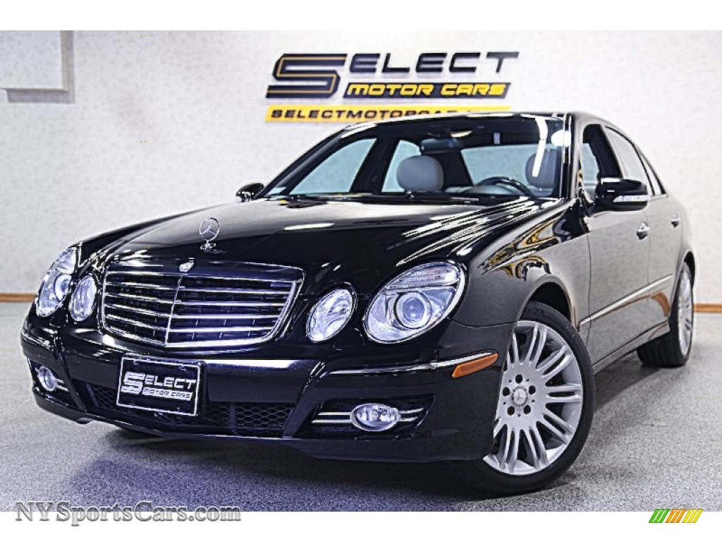 2008 mercedes benz e 350 4matic sedan in black 239924. Black Bedroom Furniture Sets. Home Design Ideas