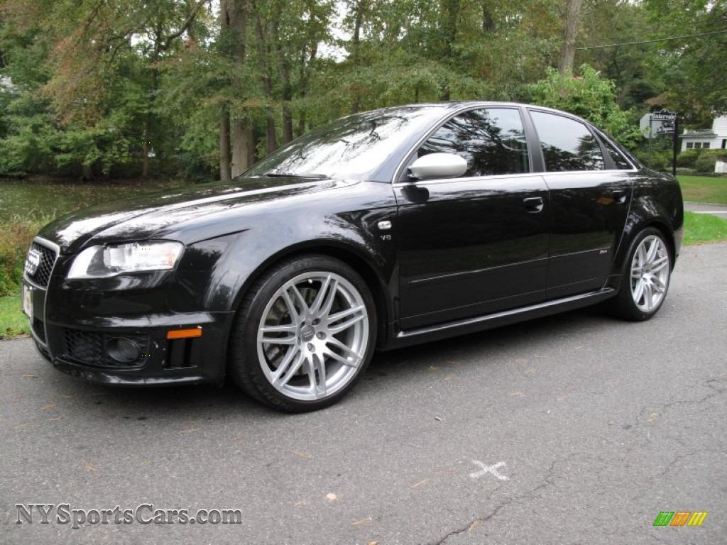 2008 audi rs4 4 2 quattro sedan in phantom black pearl effect 901700 cars. Black Bedroom Furniture Sets. Home Design Ideas