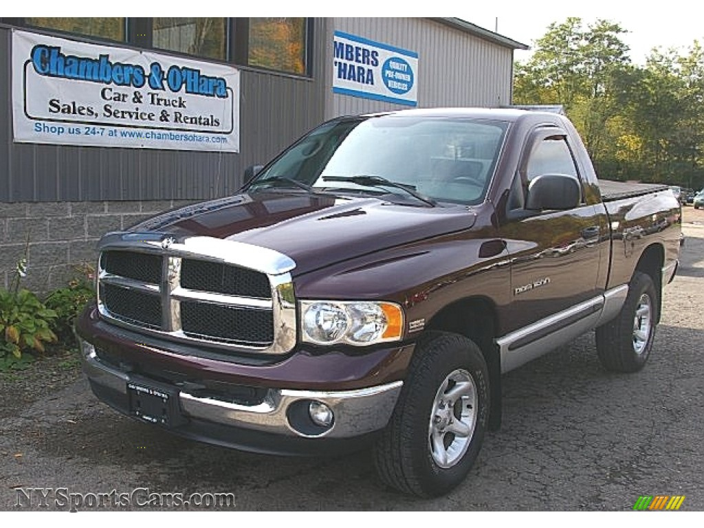 2004 dodge ram 1500 slt regular cab 4x4 in deep molten red. Black Bedroom Furniture Sets. Home Design Ideas