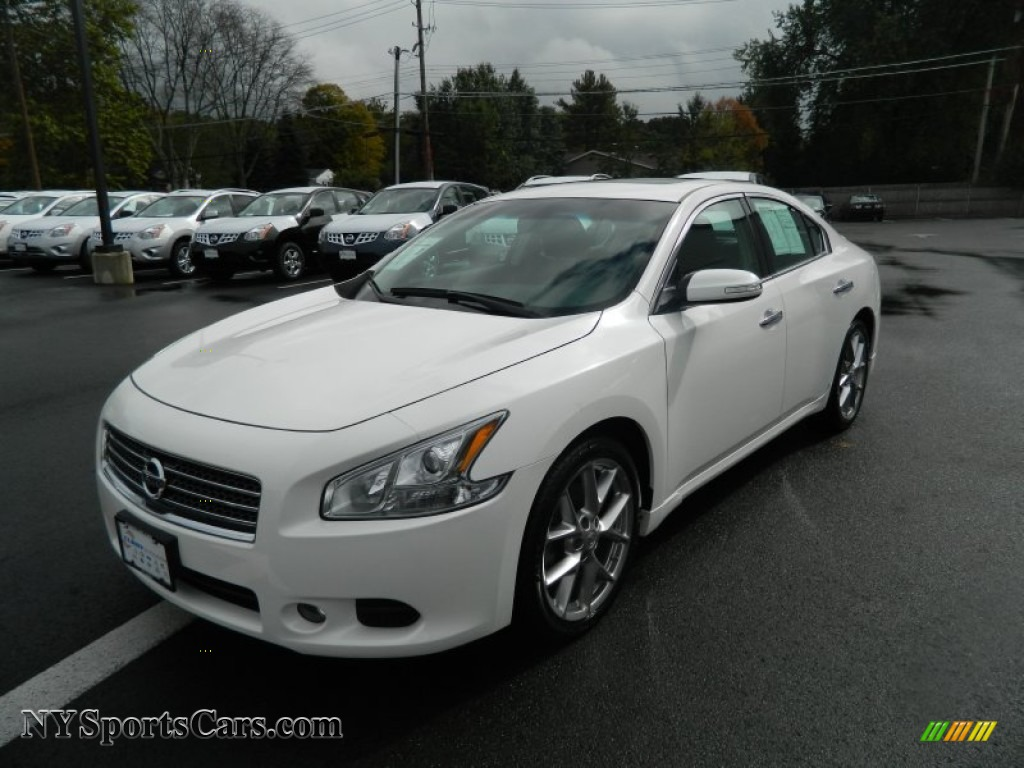 2010 Nissan Maxima 3 5 Sv Sport In Winter Frost White