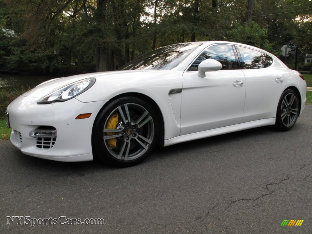 2011 Porsche Panamera Turbo In Carrara White 090261