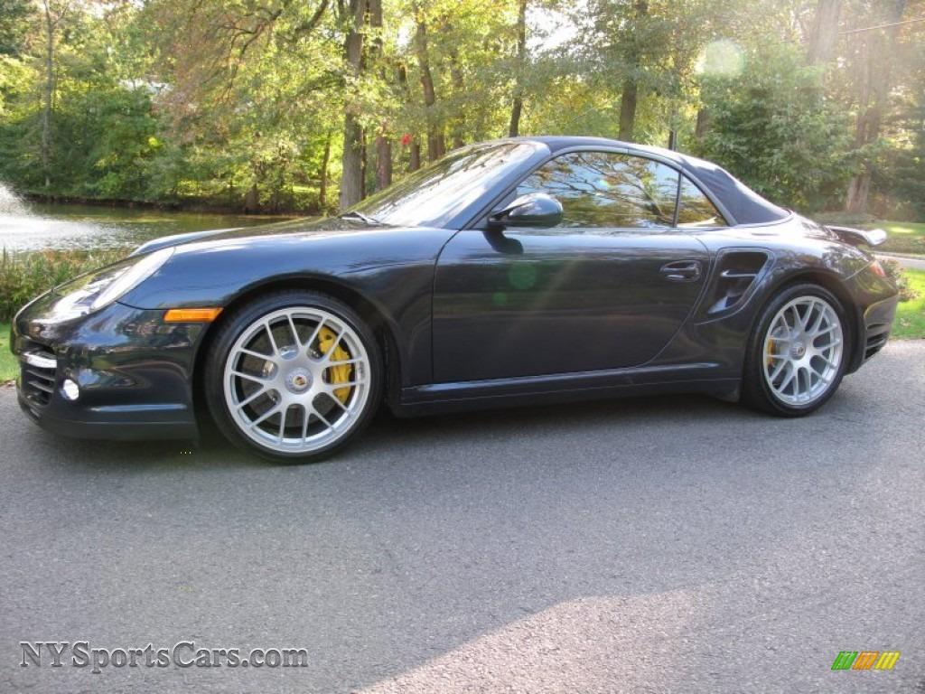 2011 Porsche 911 Turbo S Cabriolet In Dark Blue Metallic