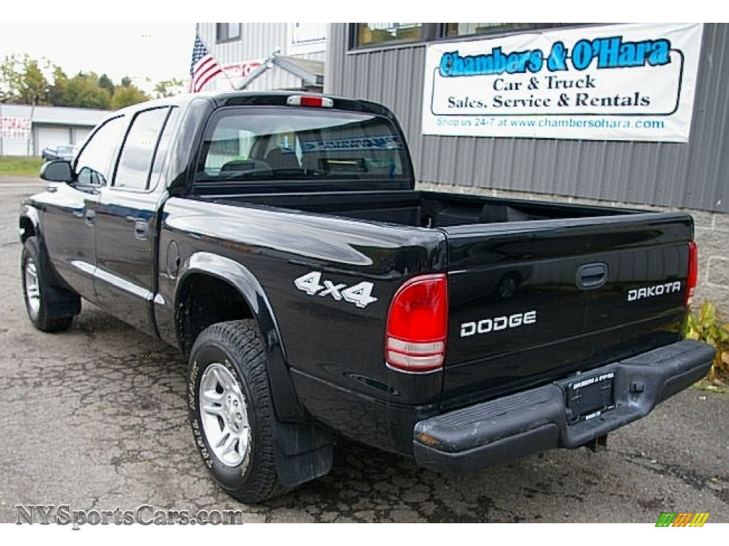 2004 dodge dakota sport quad cab 4x4 in black photo 5. Black Bedroom Furniture Sets. Home Design Ideas