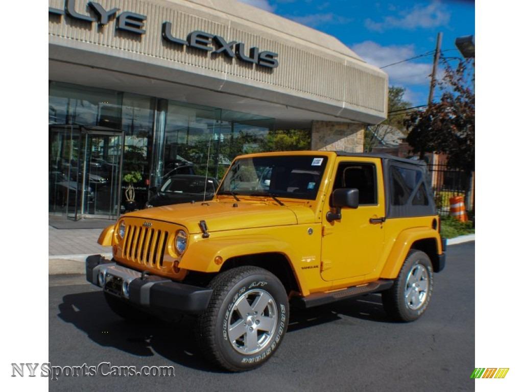 2012 Jeep Wrangler Sahara 4x4 in Dozer Yellow - 207277 ...