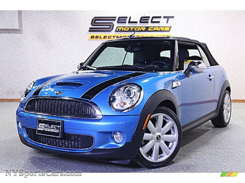 2010 mini cooper s convertible in laser blue metallic y50867 cars for. Black Bedroom Furniture Sets. Home Design Ideas
