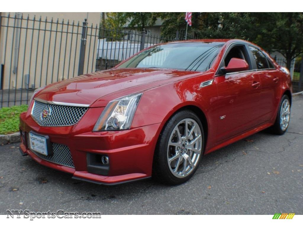 2010 cts v sedan crystal red tintcoat ebony photo 1
