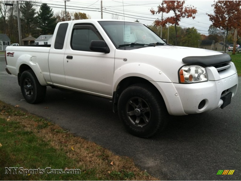 2003 nissan frontier xe v6 king cab 4x4 in avalanche white photo 4 439077. Black Bedroom Furniture Sets. Home Design Ideas