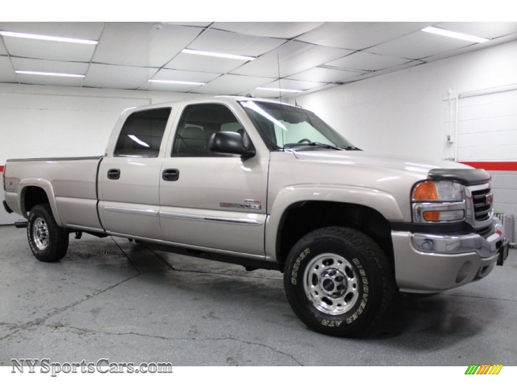 2005 gmc sierra 2500hd slt crew cab 4x4 in silver birch metallic