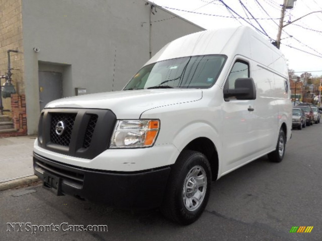 2012 nissan nv 2500 hd s high roof in blizzard white 101637 cars for sale. Black Bedroom Furniture Sets. Home Design Ideas