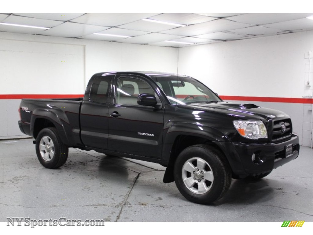 2005 toyota tacoma v6 trd sport access cab 4x4 in black sand pearl 029012. Black Bedroom Furniture Sets. Home Design Ideas