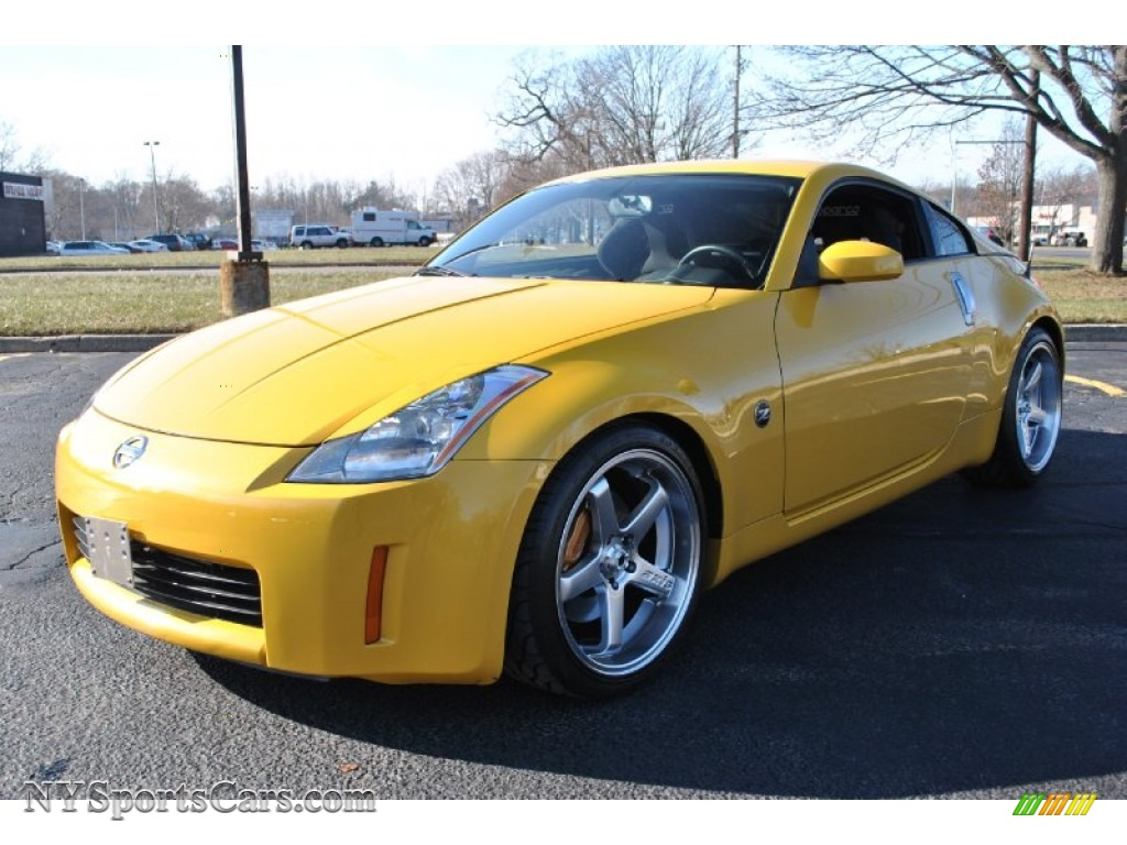 2005 nissan 350z track coupe in ultra yellow metallic 603840 cars for. Black Bedroom Furniture Sets. Home Design Ideas