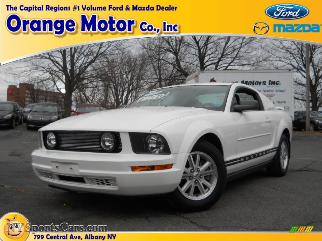 2006 ford mustang v6 deluxe coupe in performance white for Orange motors albany new york