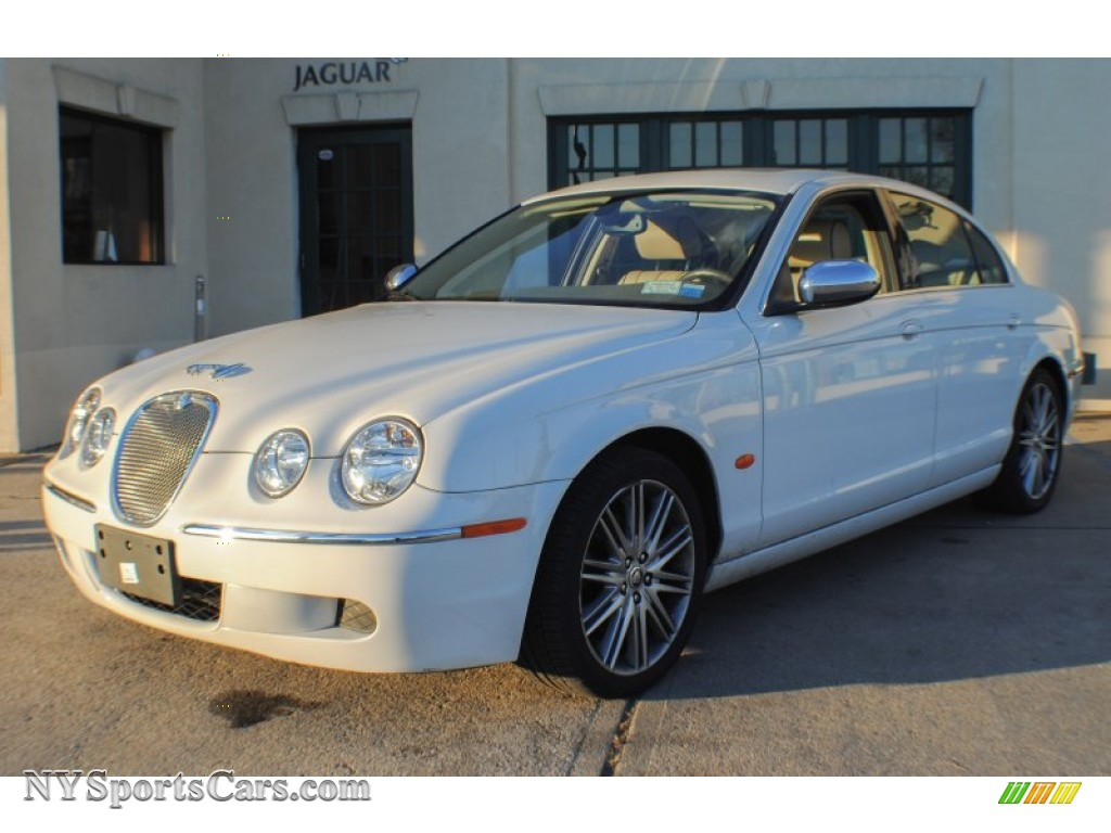 2008 jaguar s type 3 0 in porcelain white n89467 cars for sale in new york. Black Bedroom Furniture Sets. Home Design Ideas