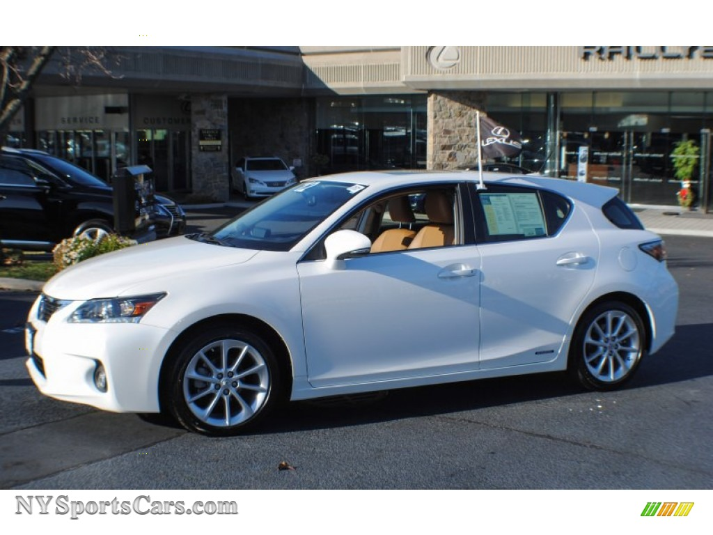 2017 Ct 200h Hybrid Premium Starfire White Pearl Caramel Nuluxe Photo 3