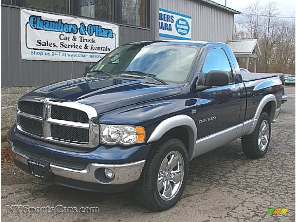 2003 dodge ram 1500 slt regular cab 4x4 in patriot blue. Black Bedroom Furniture Sets. Home Design Ideas