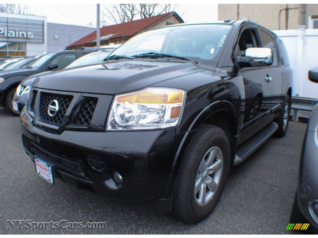 2012 nissan armada sv 4wd in galaxy black 606421 cars for sale in new york. Black Bedroom Furniture Sets. Home Design Ideas
