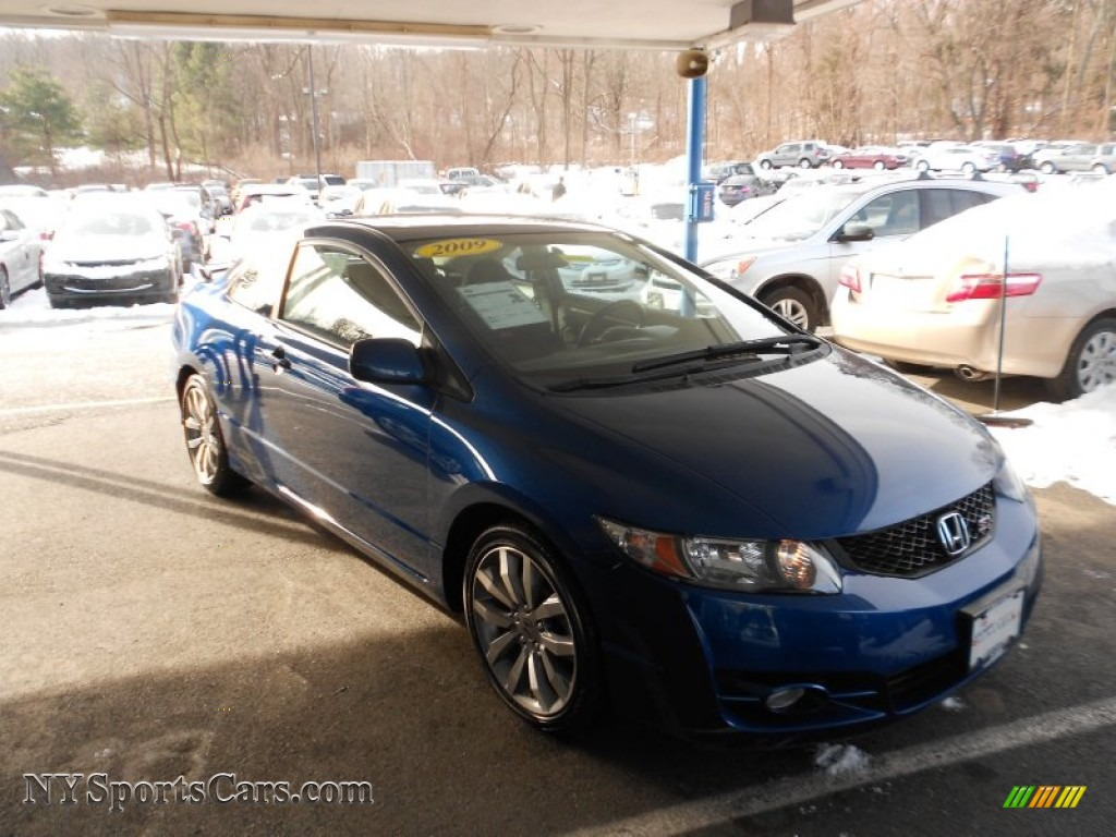 2009 honda civic si coupe in dyno blue pearl 703631 cars for sale in new york. Black Bedroom Furniture Sets. Home Design Ideas