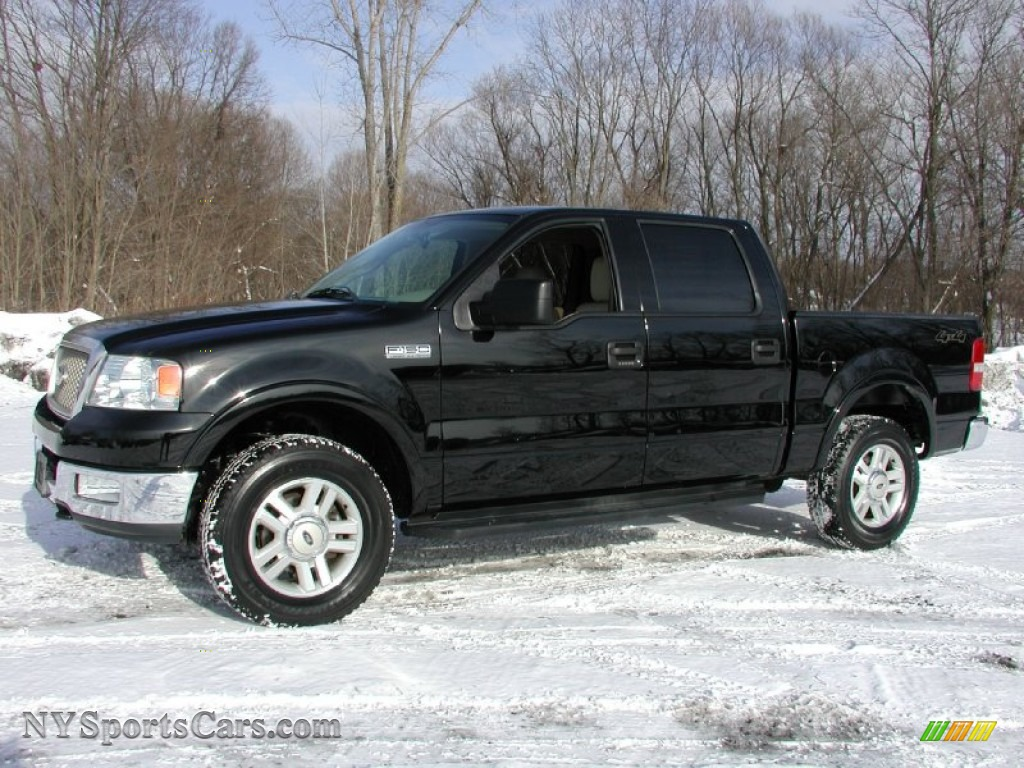 2004 ford f150 lariat supercrew 4x4 in black photo 2. Black Bedroom Furniture Sets. Home Design Ideas