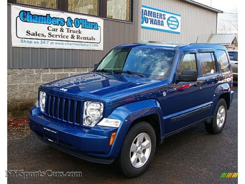Deep water blue pearl dark slate gray jeep liberty sport 4x4