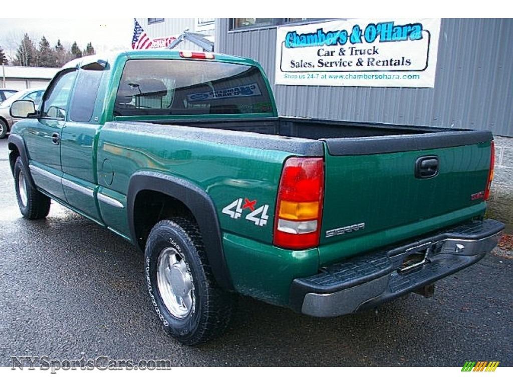 1999 sierra 1500 sle extended cab 4x4 meadow green metallic oak photo 4