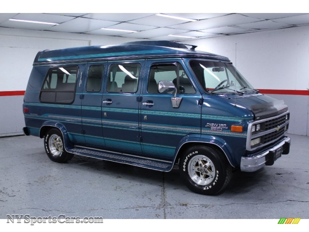 Bright Blue Metallic Chevrolet Chevy Van G20 Passenger Conversion