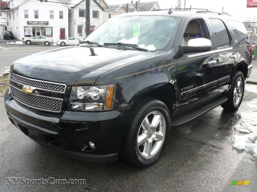 2009 chevrolet tahoe ltz in black 125092 cars for sale in new york. Black Bedroom Furniture Sets. Home Design Ideas