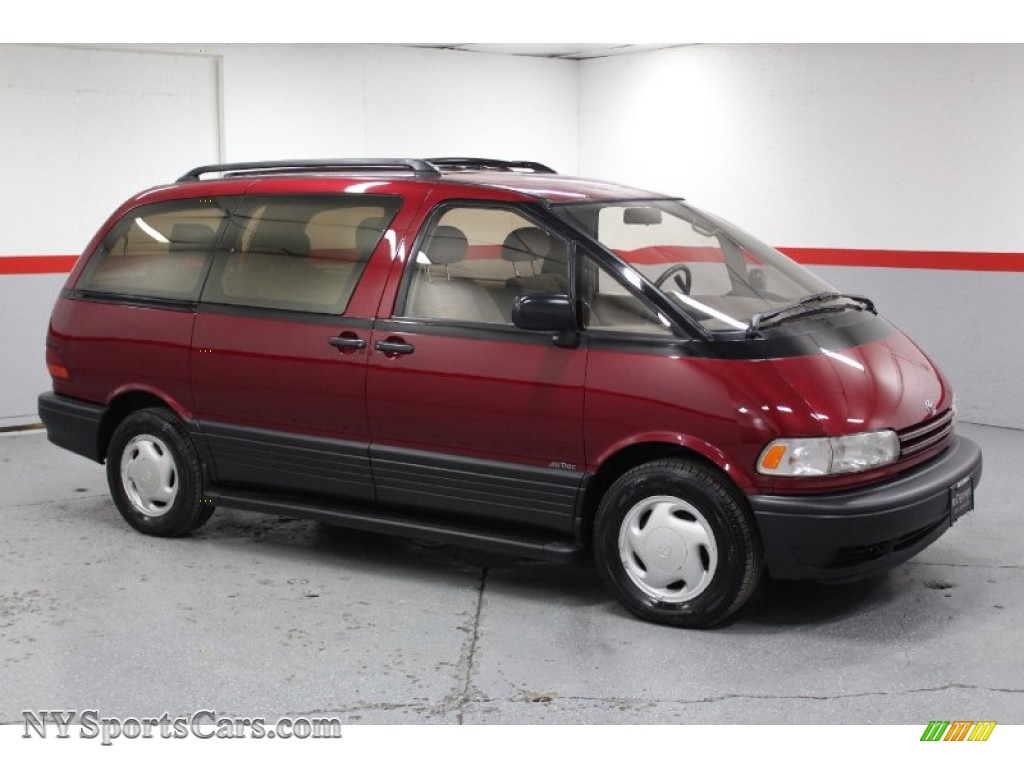 1995 toyota previa le sc all trac in burgundy pearl 048532 cars for sale. Black Bedroom Furniture Sets. Home Design Ideas