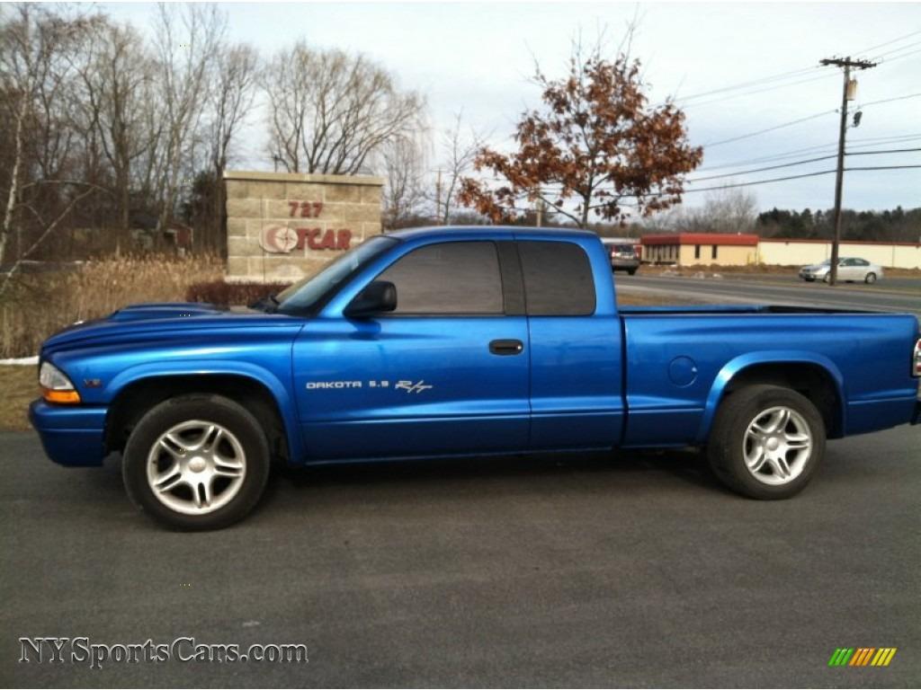 2001 Dodge Dakota Sport Club Cab In Intense Blue Pearl