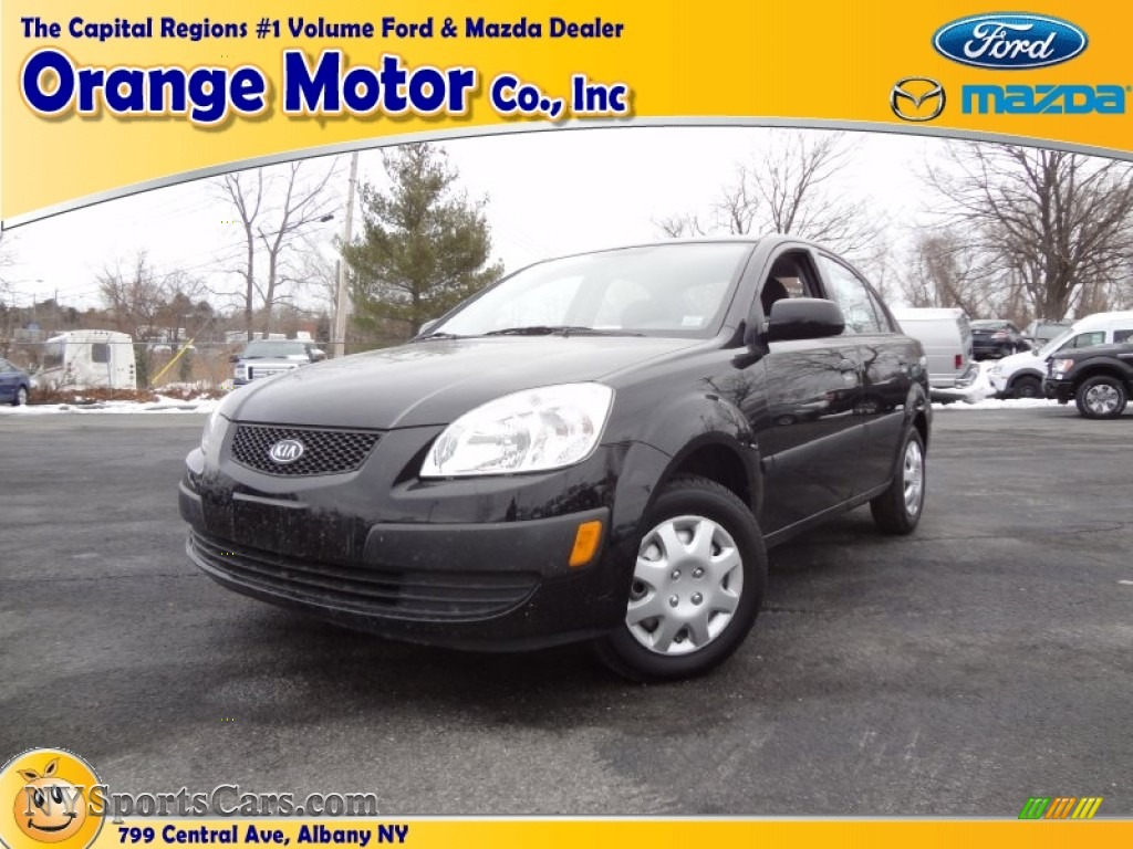 2009 kia rio sedan in midnight black photo 28 560154 for Orange motors albany new york