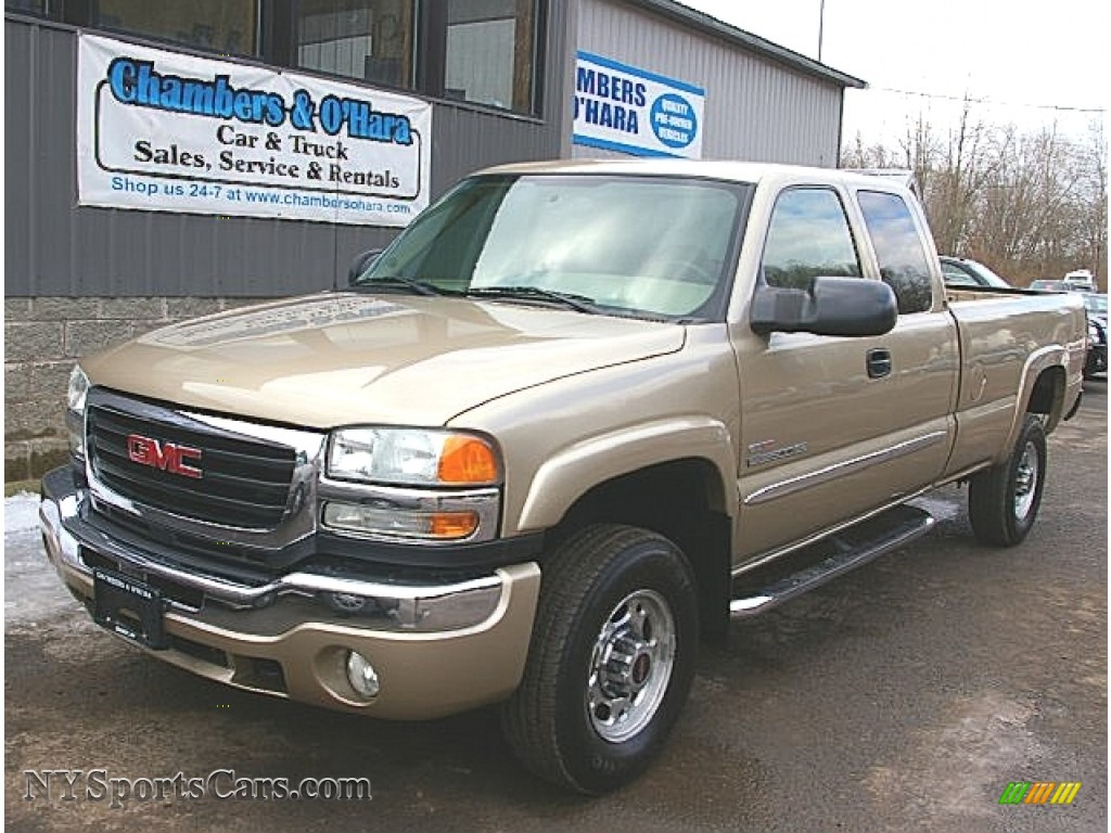 2004 gmc sierra 2500hd sle extended cab 4x4 in sand beige. Black Bedroom Furniture Sets. Home Design Ideas